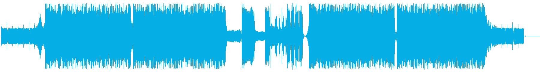 過激で重いメタルコアの再生済みの波形