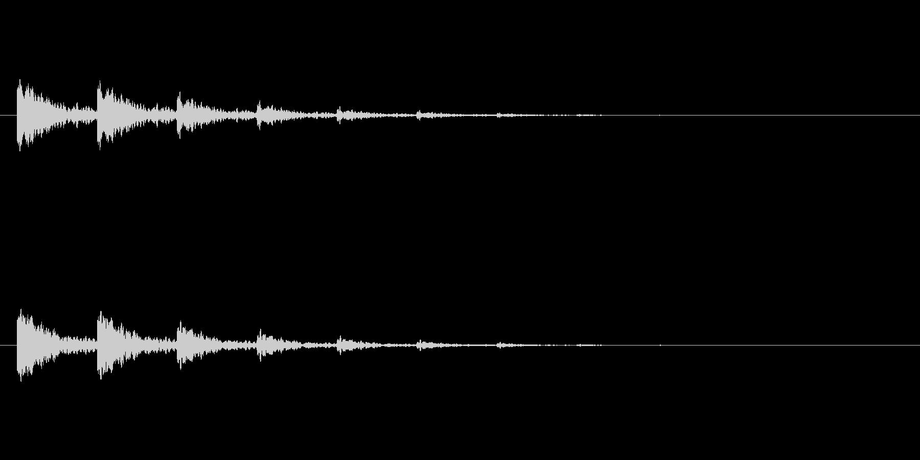 【アクセント21-4】の未再生の波形