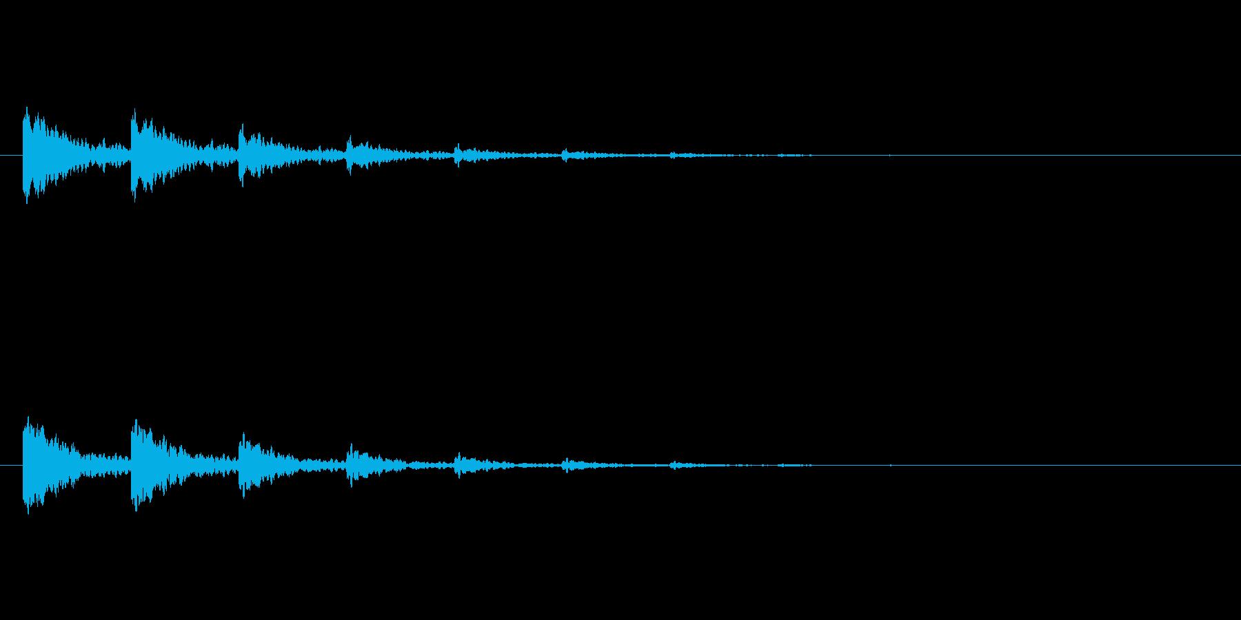 【アクセント21-4】の再生済みの波形
