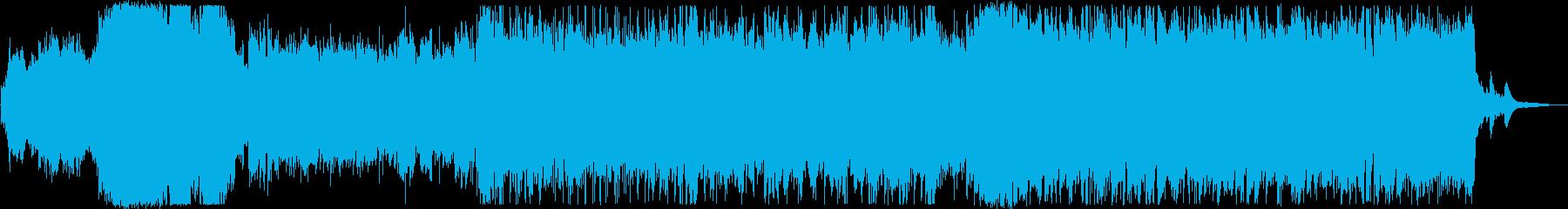 アニソン風カッコいいポップスのインストの再生済みの波形