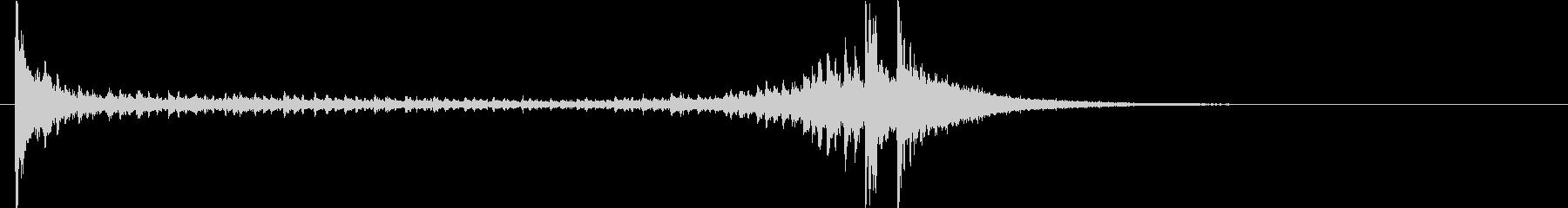 ドラムロール②Mの未再生の波形