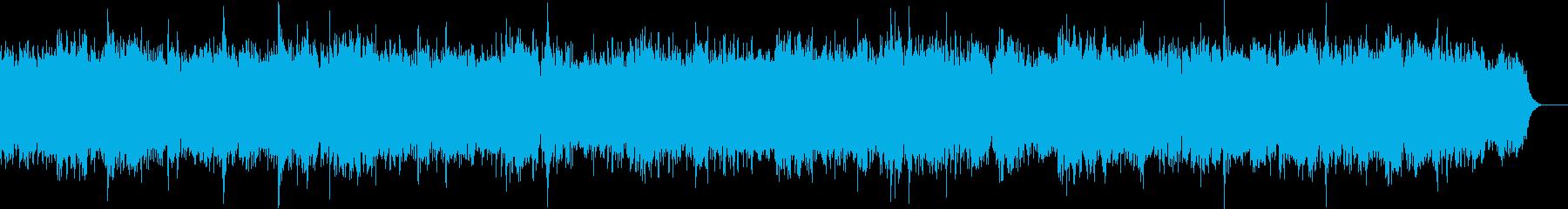 優しいほのぼのとした雰囲気のBGMの再生済みの波形