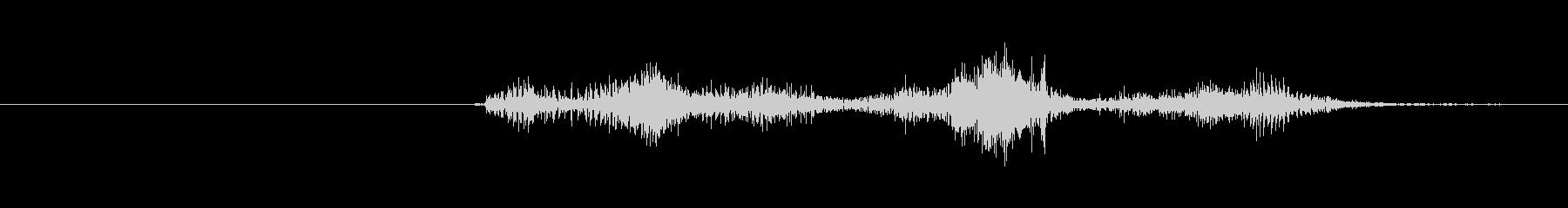 ジッパー音(速め)の未再生の波形