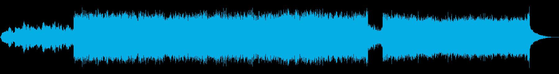 宇宙・科学・夕陽など感動的なアンビエントの再生済みの波形