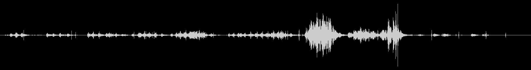 ハイドロフォンとマイクのミックス:...の未再生の波形
