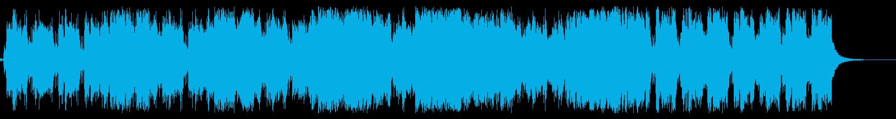 オルタナ的なリフとシンセメロのバンド曲の再生済みの波形