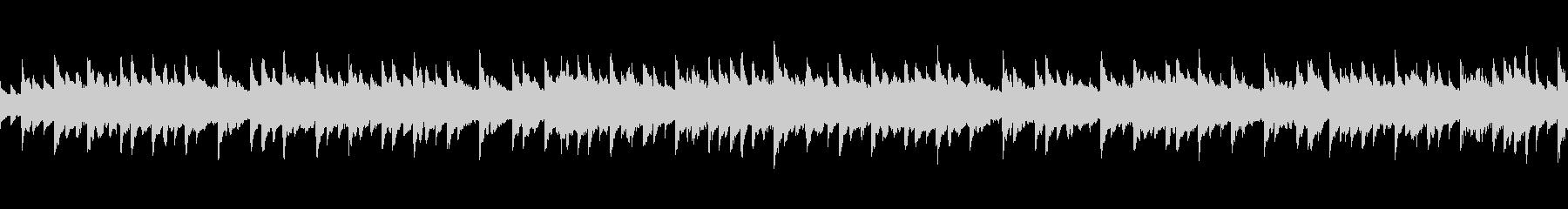 エレピの優しい音色のゆったりとした曲の未再生の波形