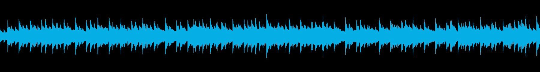 エレピの優しい音色のゆったりとした曲の再生済みの波形