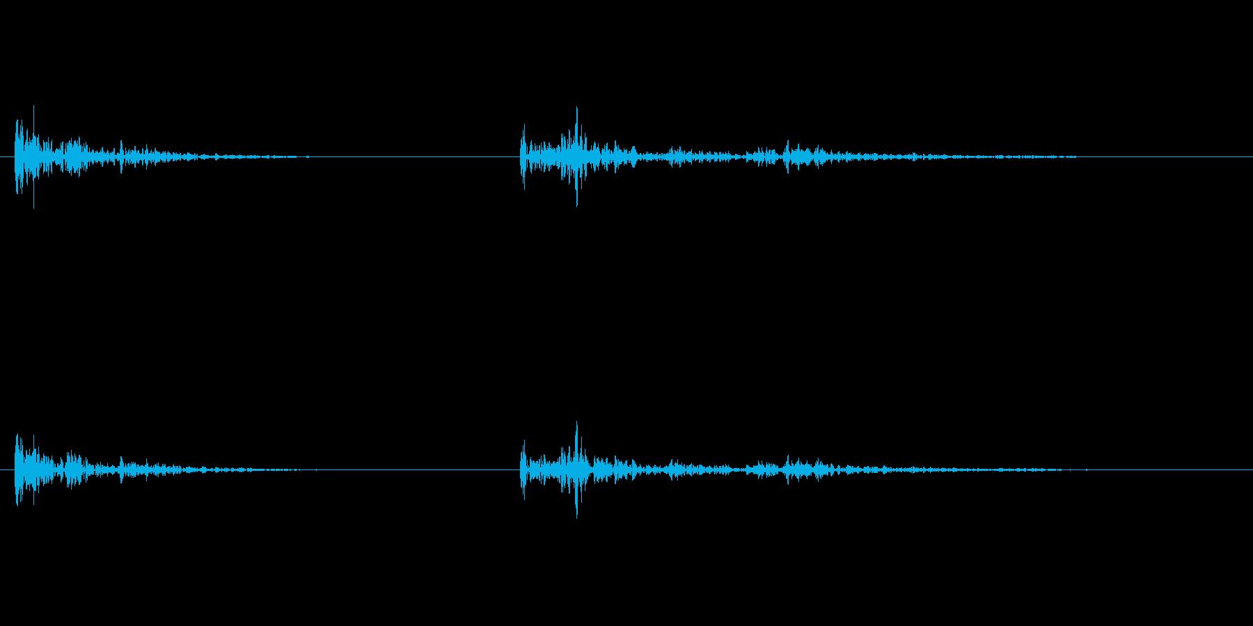 【生録音】弁当・惣菜パックの音13 カラの再生済みの波形