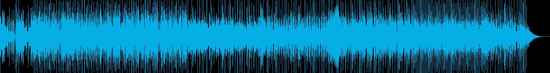 軽快なリズムに怪しげなリフが印象的な曲の再生済みの波形