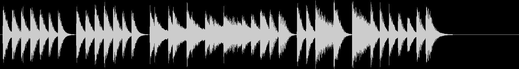 節分に!豆まきモチーフピアノジングルDの未再生の波形