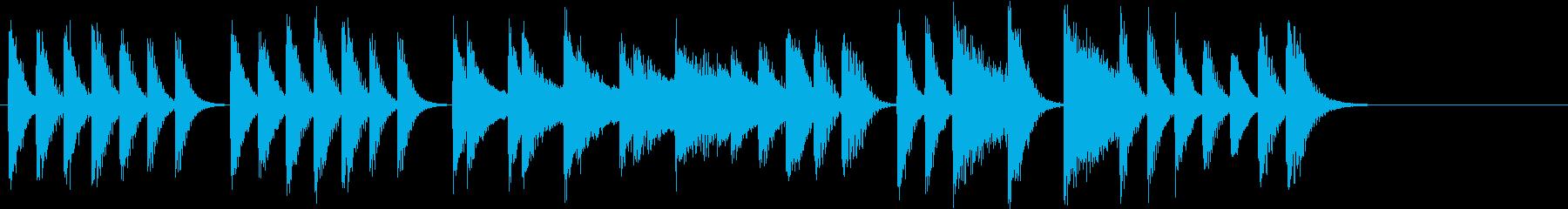 節分に!豆まきモチーフピアノジングルDの再生済みの波形