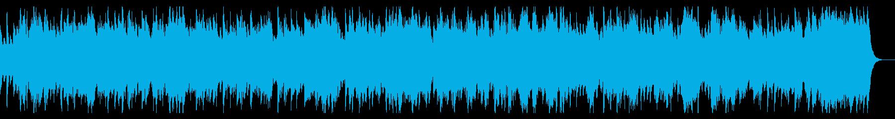 日常系の静かなピアノとストリングスBGMの再生済みの波形