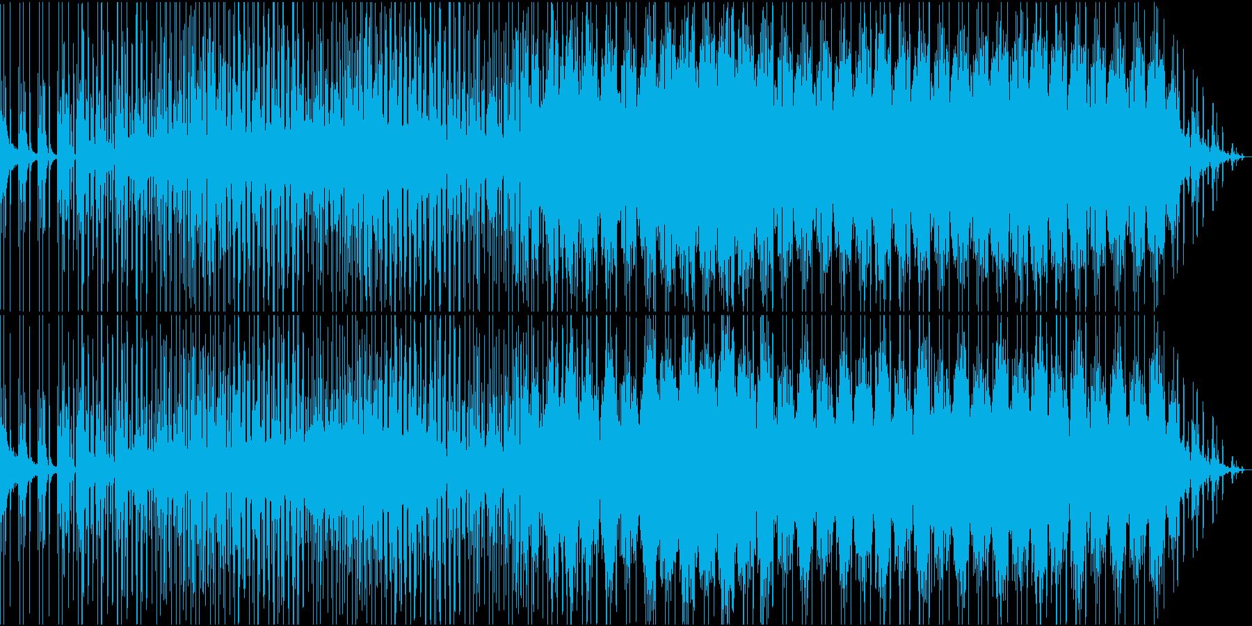 シンセサイザーがメインのゆったりポップスの再生済みの波形