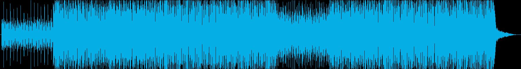 旅とドライブをイメージしたロックの再生済みの波形