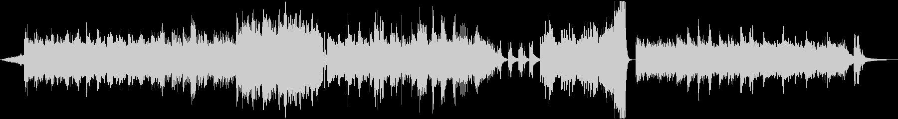 冬 幻想的なアンビエント シンセとピアノの未再生の波形