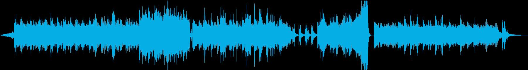 冬 幻想的なアンビエント シンセとピアノの再生済みの波形