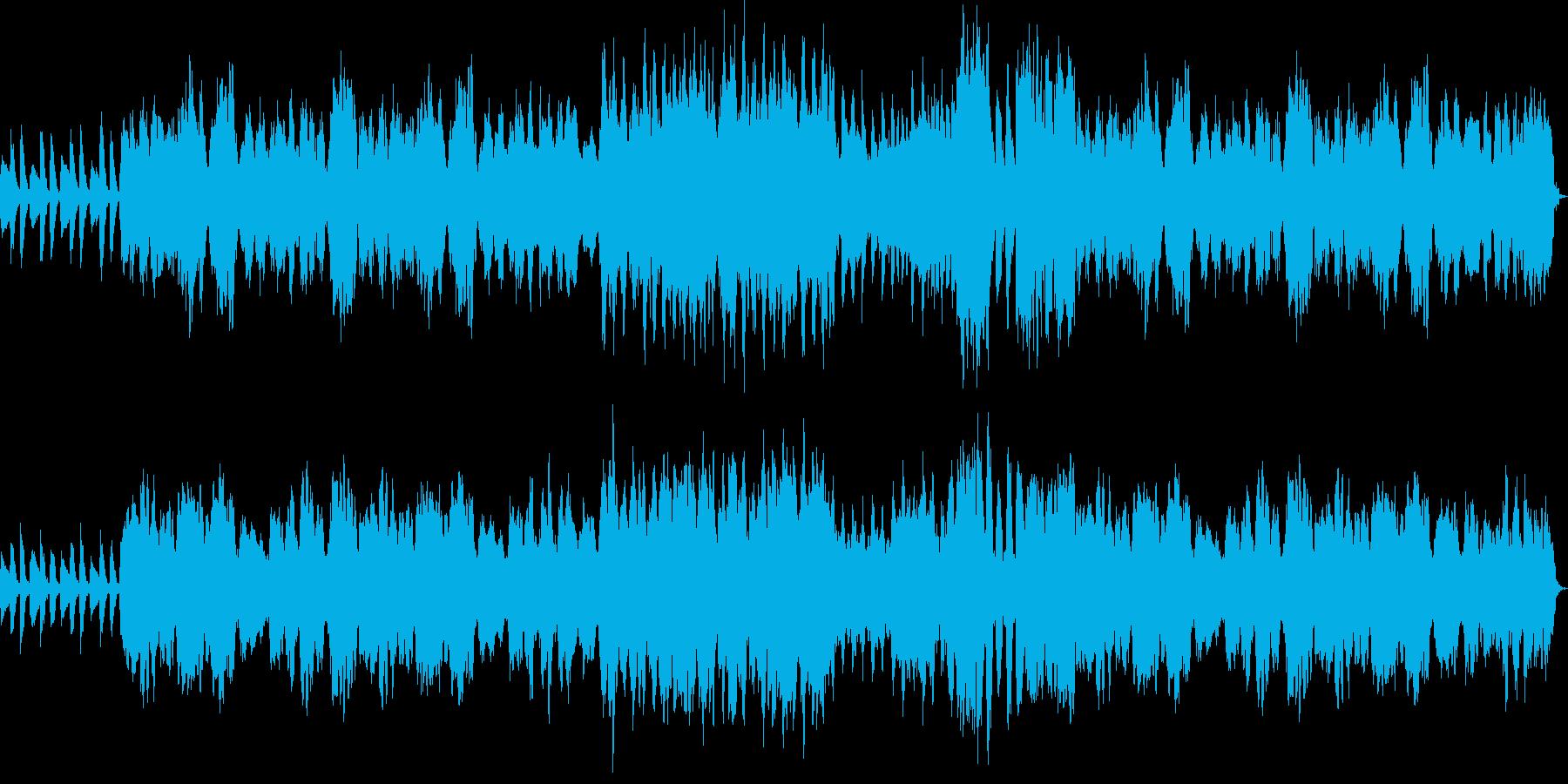 夢の中にいる様な雰囲気の劇伴用BGMの再生済みの波形