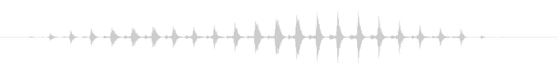 パワーダウン効果音 おかしな音 楽しい音の未再生の波形