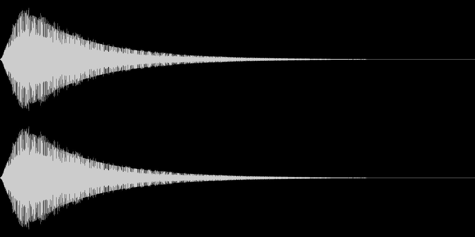 ジャーン(サイバー的)の未再生の波形