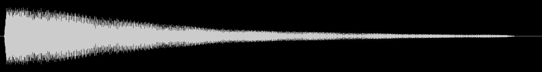 ポワワワワン (コミカルな波形音)の未再生の波形