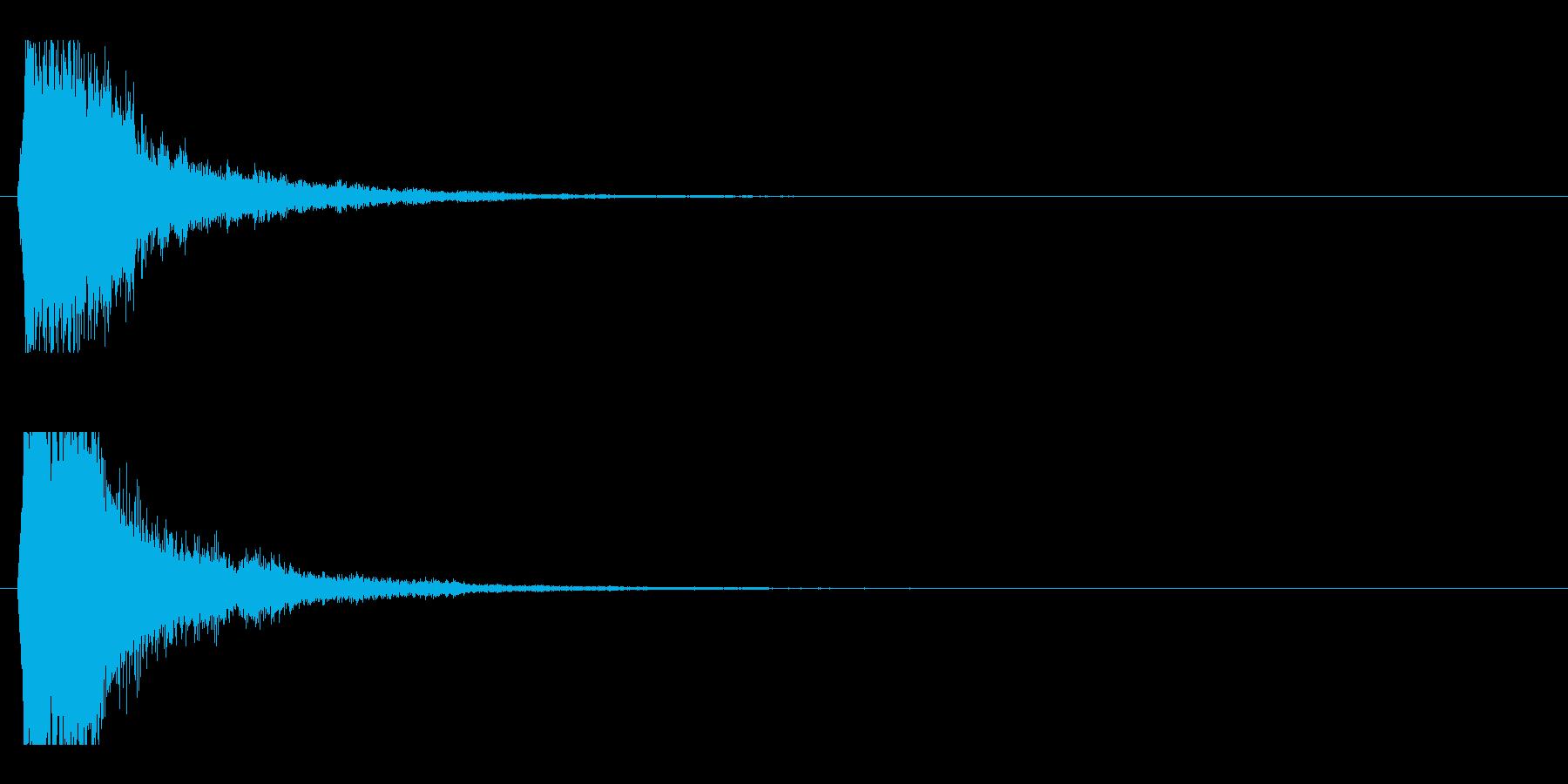 レーザー音-49-1の再生済みの波形
