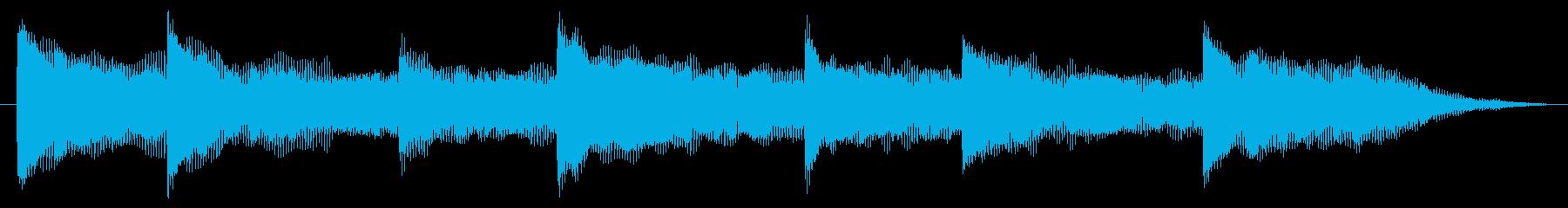 さわやかな放送、お知らせチャイムベルの再生済みの波形