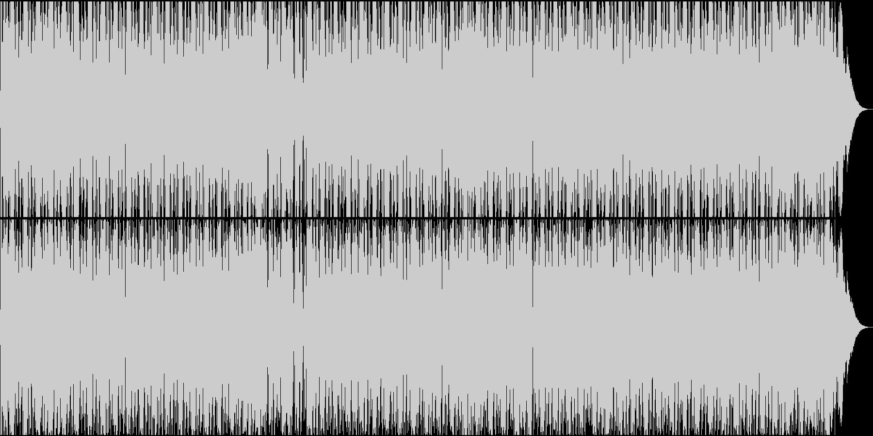 ハードなタイプのブルースの未再生の波形