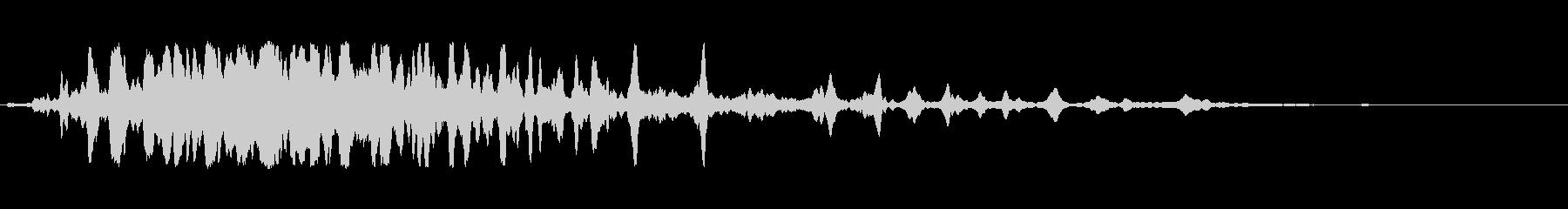 細いスワイプ3の未再生の波形