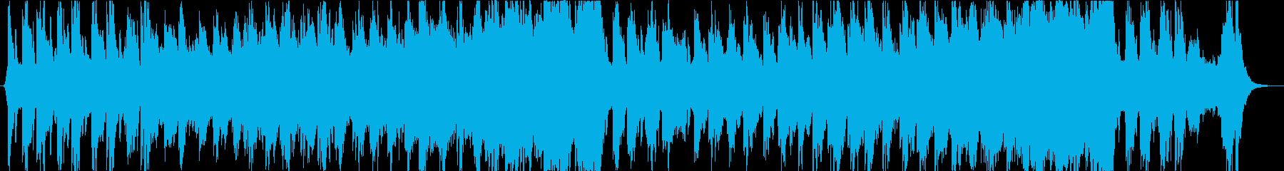 緊張感のあるゲームの戦闘用BGMの再生済みの波形