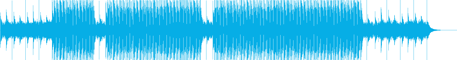 幻想的なイメージのTrap Beatの再生済みの波形