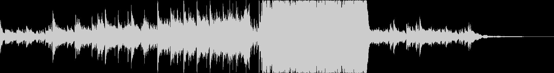 切ないピアノとストリングスメインの楽曲の未再生の波形