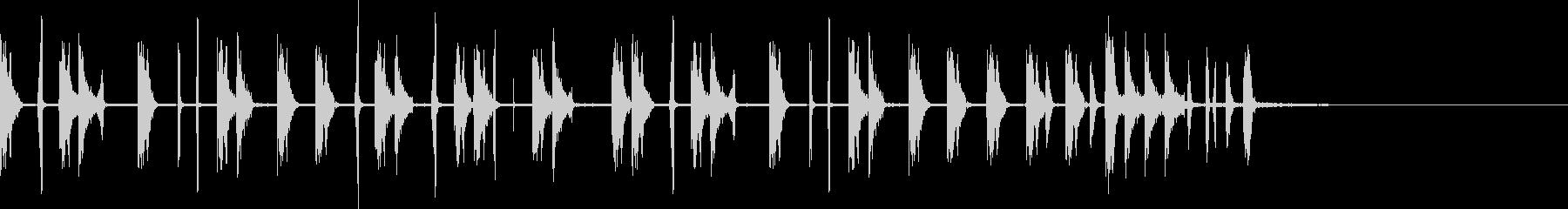 スクラッチが目立つシンキングタイムな音の未再生の波形