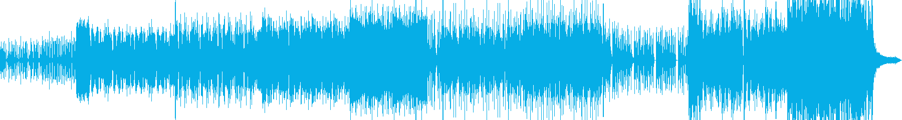 狂気とコミカルが混ざったドラムンベースの再生済みの波形