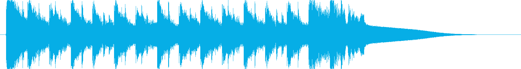 EDMの10秒ジングルですの再生済みの波形