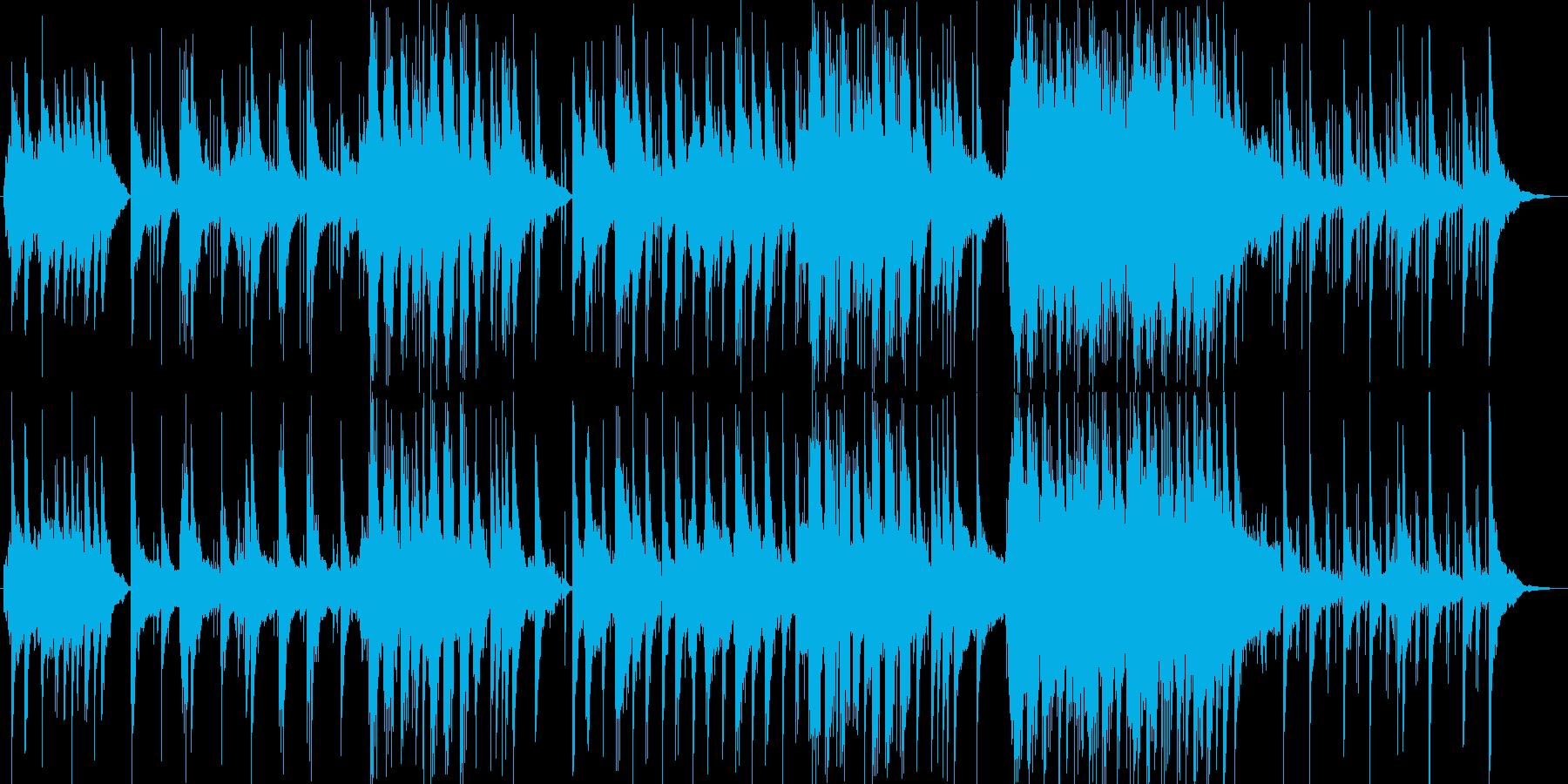 美しく透明感のあるシンセサイザーサウンドの再生済みの波形