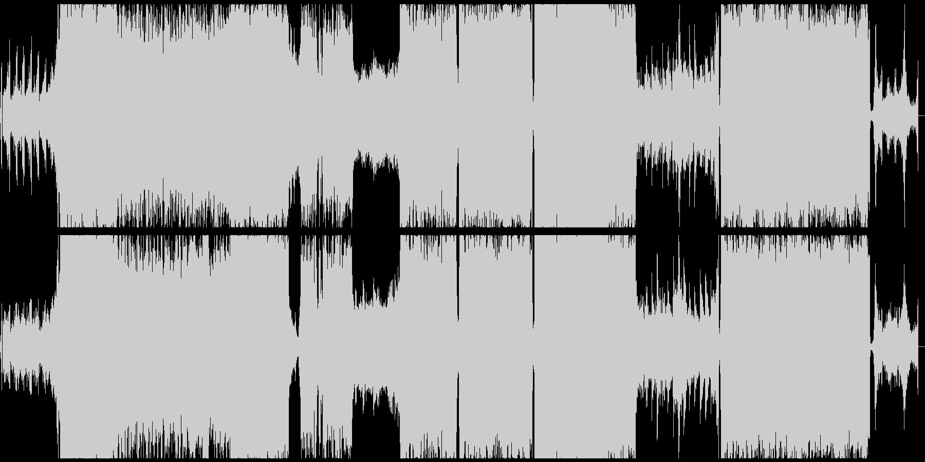 ダークなジェント風シンフォニックロックの未再生の波形