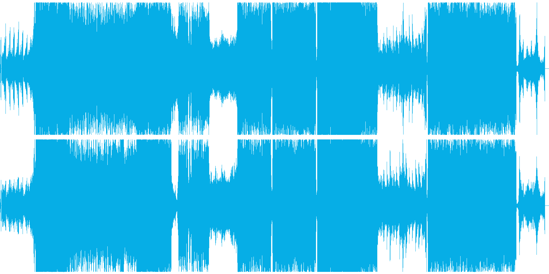 ダークなジェント風シンフォニックロックの再生済みの波形