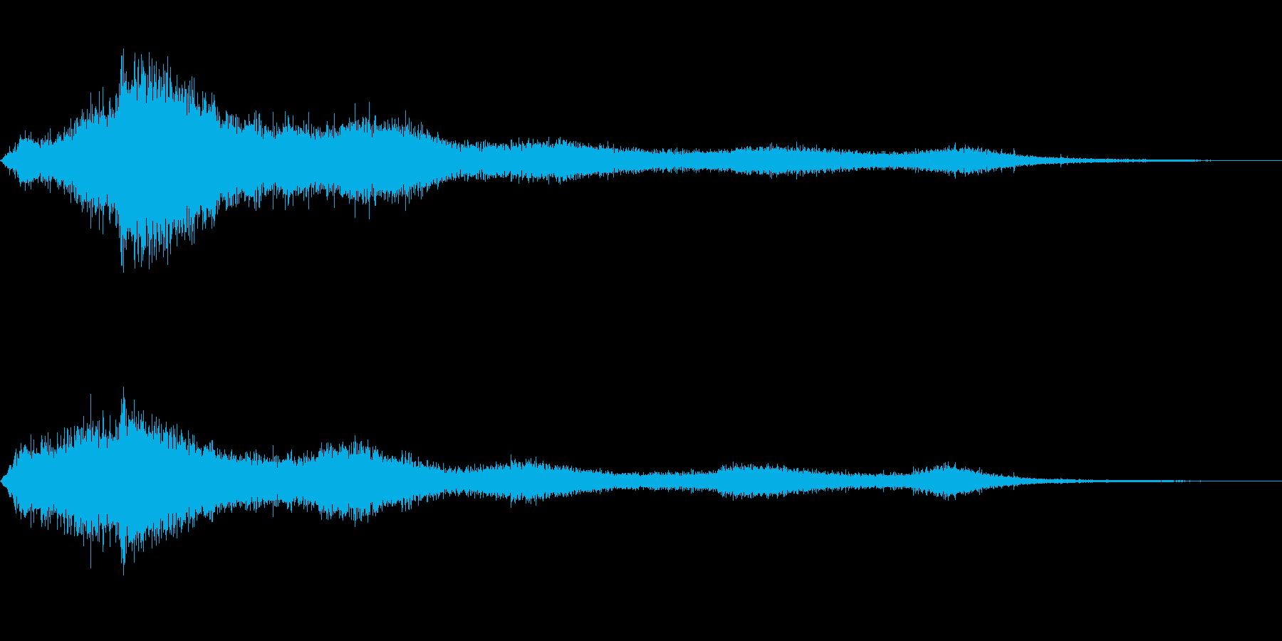 【生録音】 早朝の街 交通 環境音 23の再生済みの波形