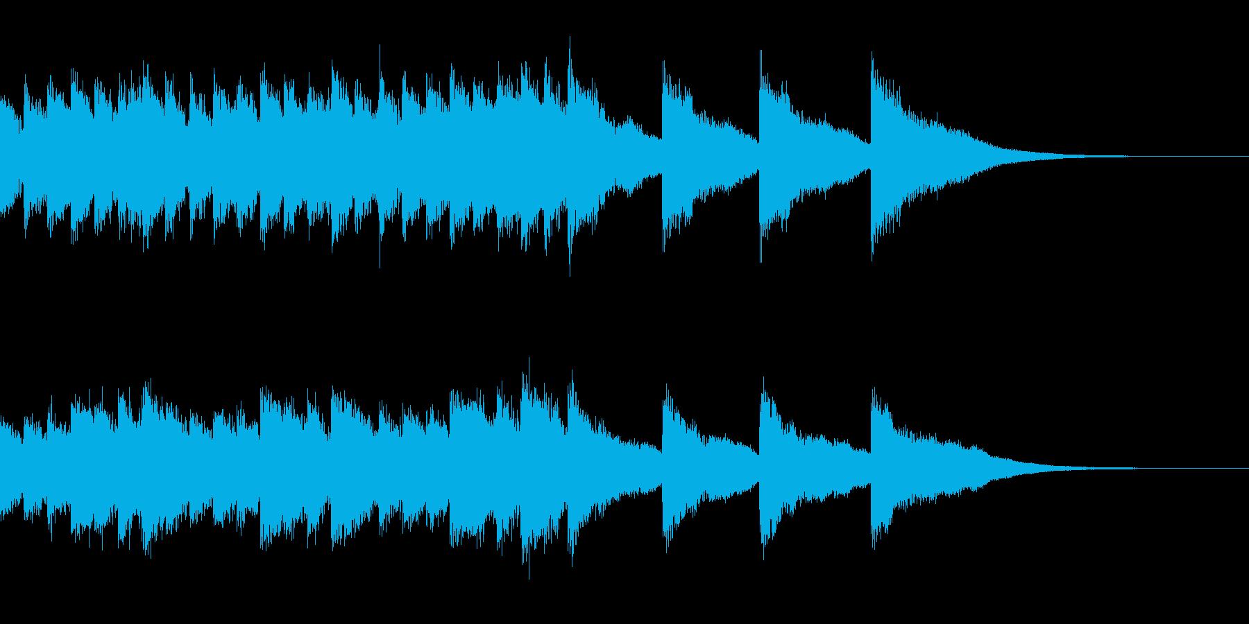 開幕ベル=チューブラベルでやや速くの再生済みの波形