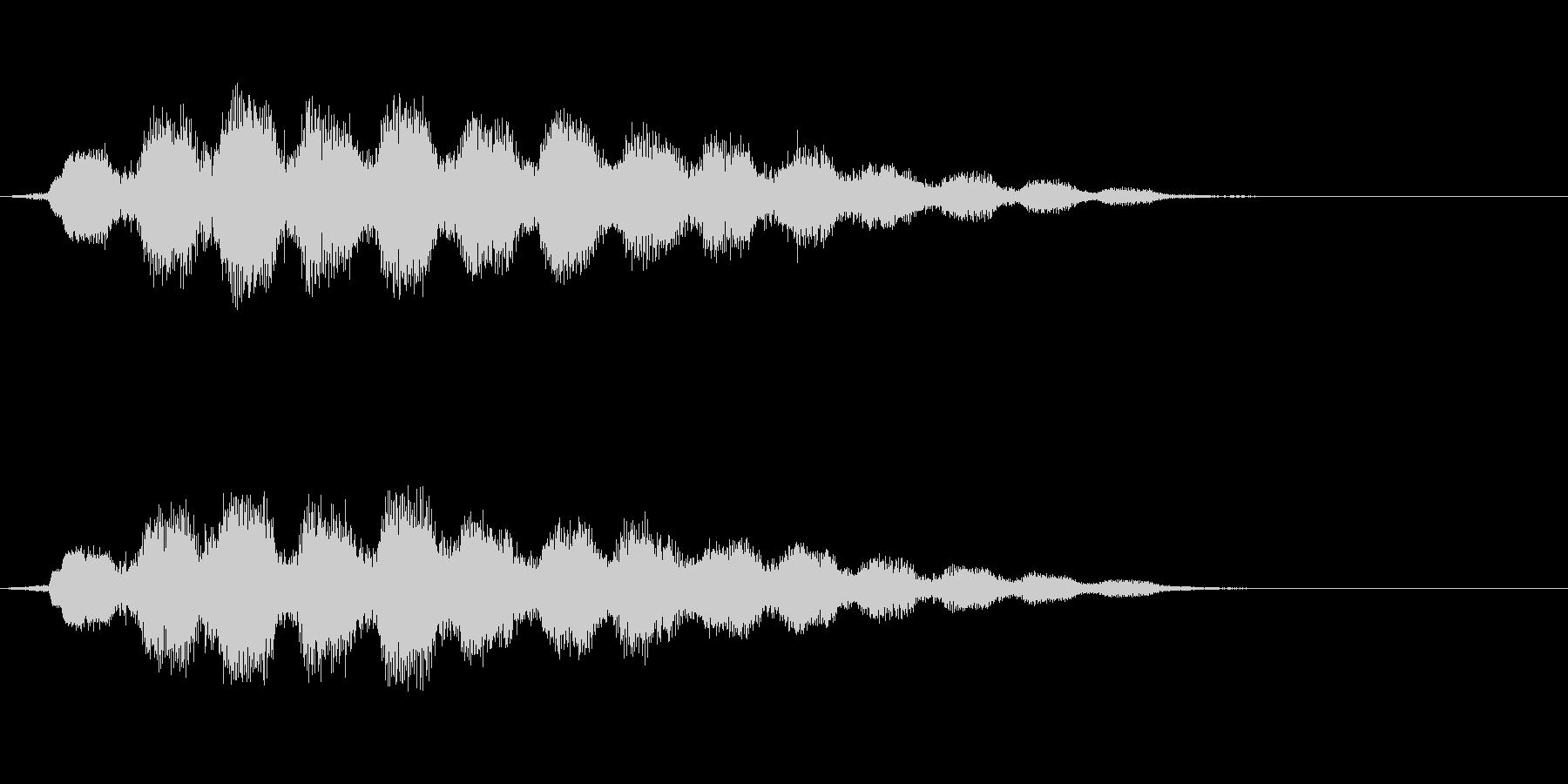波と電子音からなる短めのジングルの未再生の波形