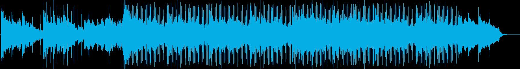 ピアノとストリングスによる綺麗なBGMの再生済みの波形