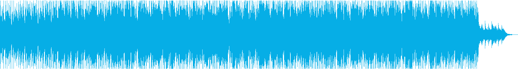 エレキギターの哀愁漂うBGMの再生済みの波形