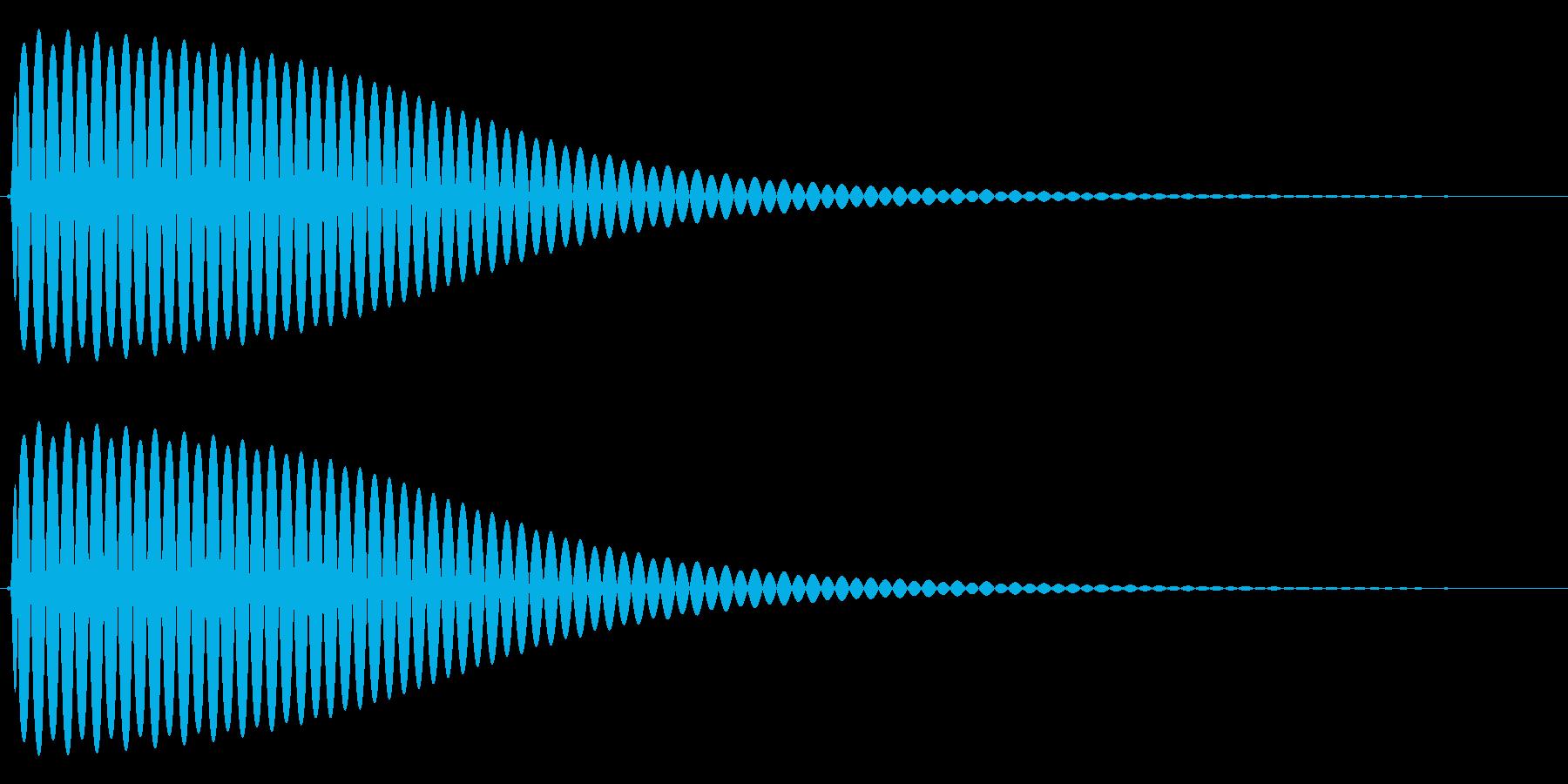 Com ファミコンなどのコマンド音 2の再生済みの波形