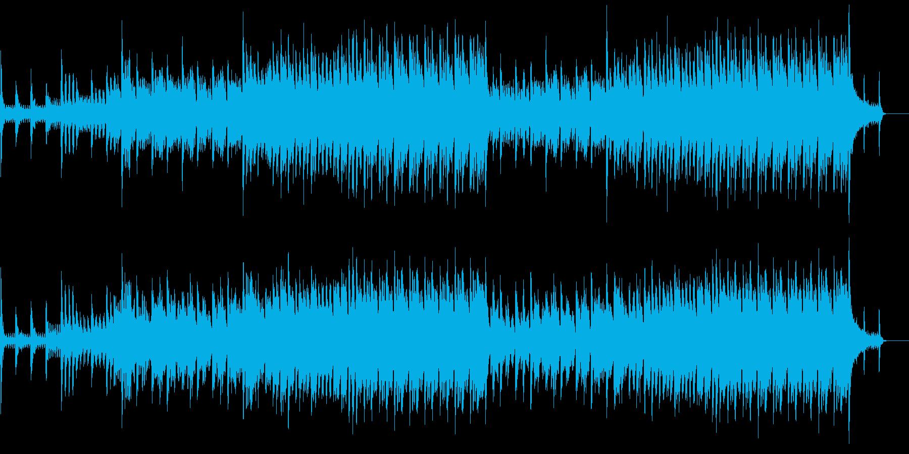 ストリングスとピアノの爽やかBGMの再生済みの波形