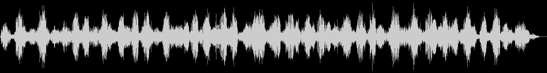 カエルの合唱 (約12秒)の未再生の波形