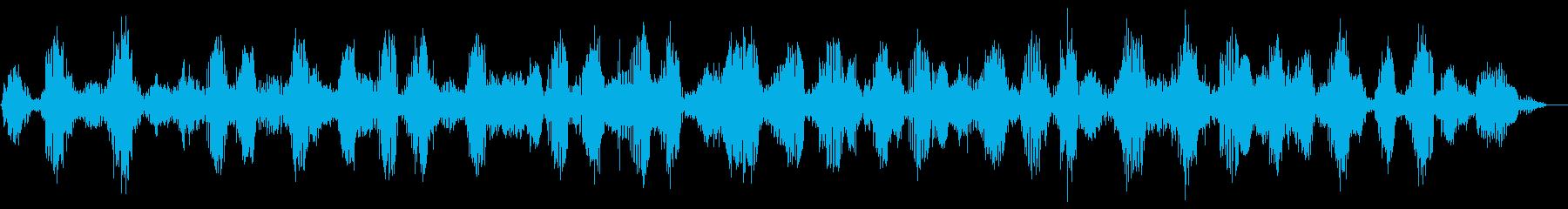 カエルの合唱 (約12秒)の再生済みの波形