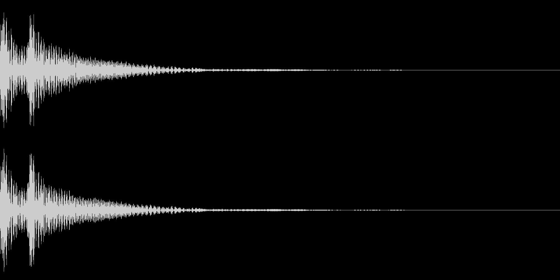 和風「ドドン」大太鼓+大鼓 遅めの未再生の波形
