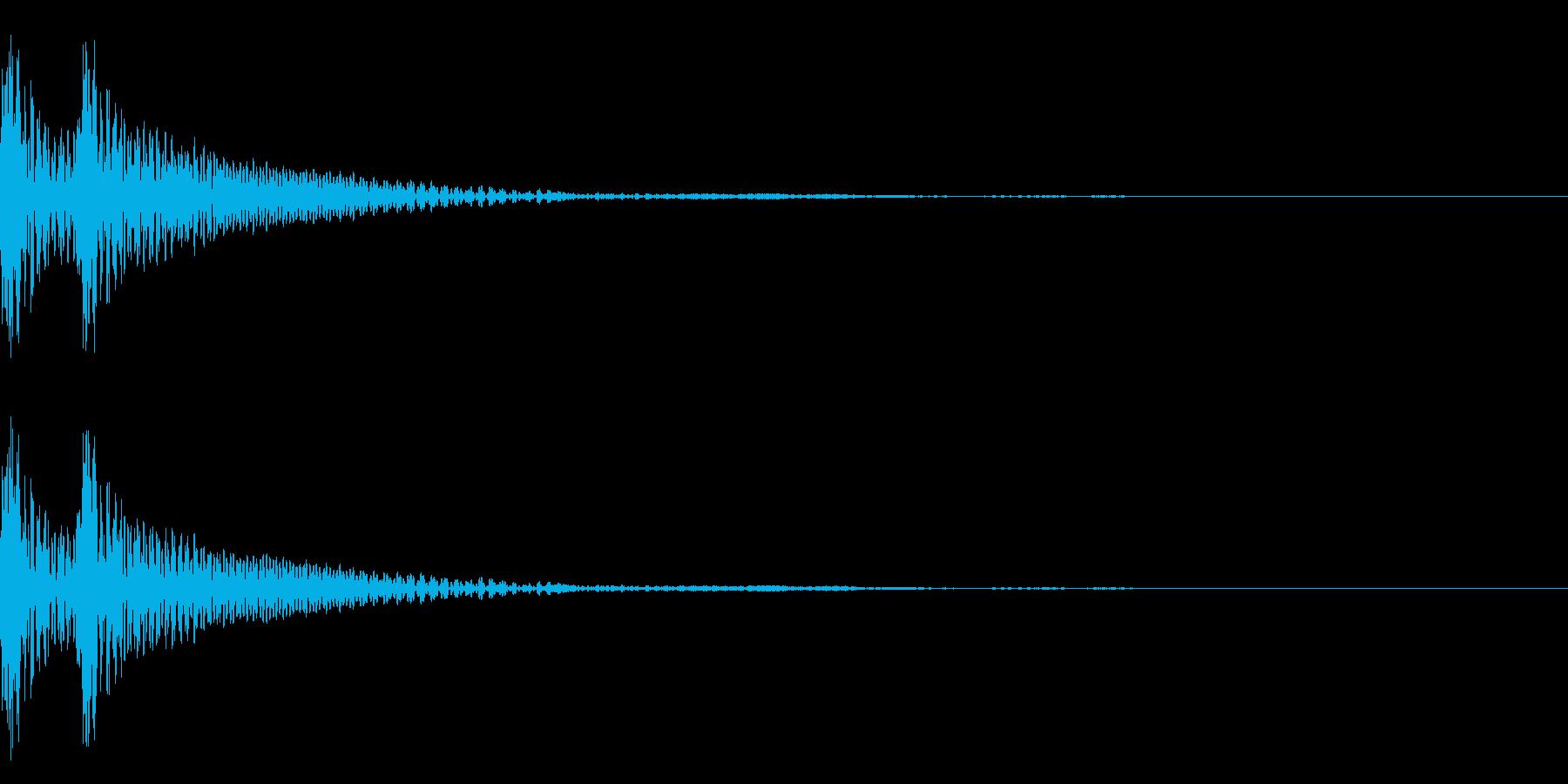 和風「ドドン」大太鼓+大鼓 遅めの再生済みの波形