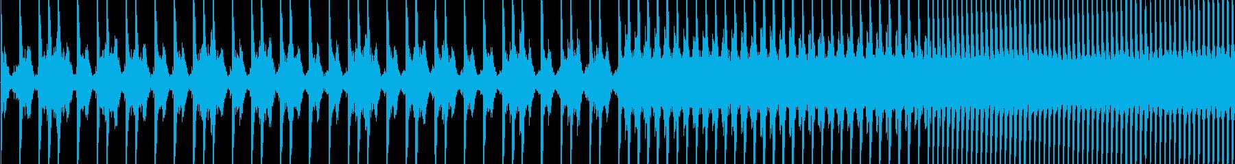 EDMスネアロールの再生済みの波形